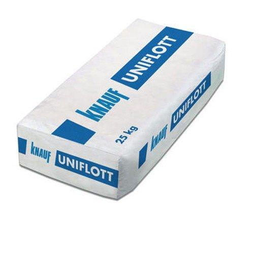 Knauf Uniflott Gips-Spachtelmasse 25 kg Sack - Besonders leichtgängig zu verspachteln - schnelle Festigkeitsentwicklung