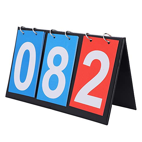 Ziffer Anzeigetafel 2/3/4 Tragbare Flip Score Zähler Sport Tischplatte Anzeigetafel für Tischtennis Basketball Baseball Volleyball Fußball