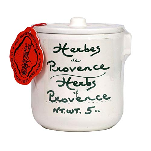 Aux Anysetiers du Roy - Herbs of Provence in Pottery Crock, Large 5 Ounce Jar