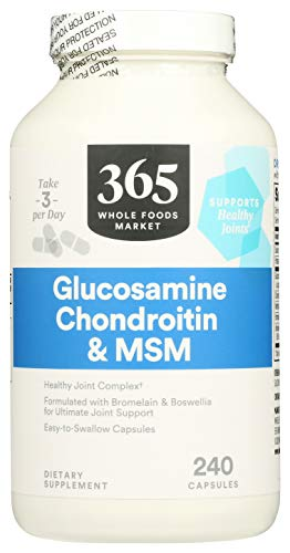 365 by Whole Foods Market, Supplements - Bone & Joint, Glucosamine Chondroitin & MSM, 240 Count