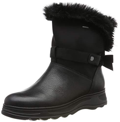Geox D HOSMOS B ABX C, Botas de Nieve Mujer, Negro (Black C9999), 38 EU
