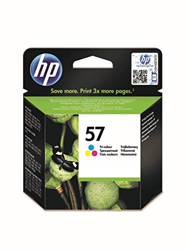 HP 57 C6657AE, Tricolor, Cartucho de Tinta Original, compatible con impresoras de inyección de tinta HP Deskjet 5550, Photosmart 7350, 7150, 7345, Officejet 6110, 5110