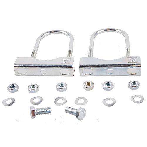 Pendentif Roue jockey Support de serrage Fixation à timon extérieur tube 48 mm Ø de serrage Tube rond galvanisé 60 mm Ø, argent