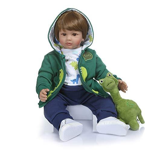 Viesky 60cm 24in Realistic Reborn Bambola Silicone Morbido Vinile Neonati Ragazzo Realistico Giocattolo Fatto A Mano Per Bambini Regalo Di Natale Di Compleanno