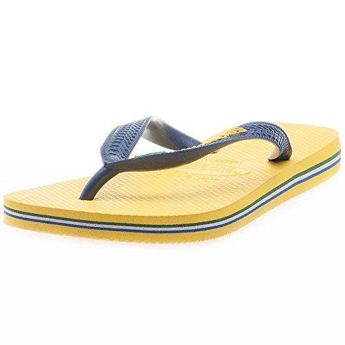 Havaianas Unisex-Erwachsene Brasil Logo Zehentrenner, Gelb (Citrus Yellow), 27/28