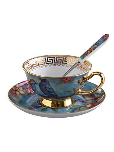 CVMFE Juego De Tazas De Cafe Juego De Tazas De Café Vintage Tradicional, Platillo De Porcelana De Hueso, Taza De Té De Cerámica, Taza De Té De Porcelana, Vajilla, Porcelana