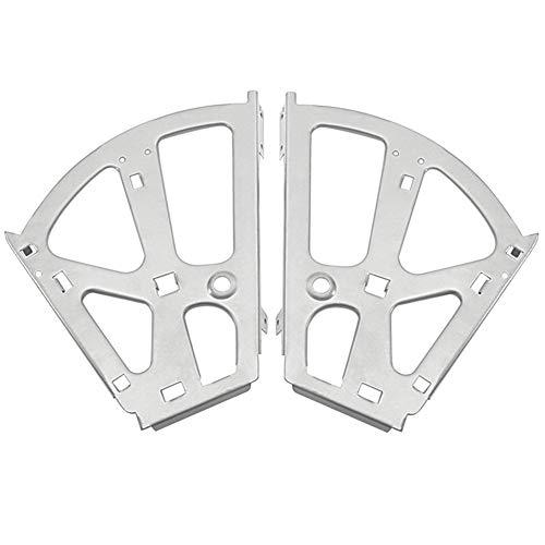 Ahomi - Zapatero de hierro con marco y bisagra para armario, 2 unidades, metal, Gris, 2 Layers