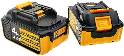 2 baterías BL1840 de ion de litio de 18 V y 4,0 Ah para batería de herramientas Makita de 18 voltios.