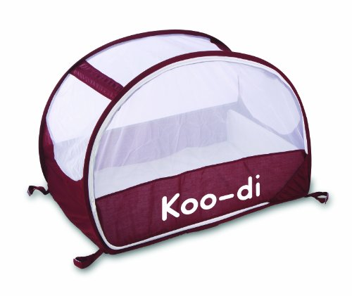 Koo-di 100 x 60 x 58 cm Pop Up Travel Bubble Cot ( Aubergine/ White)