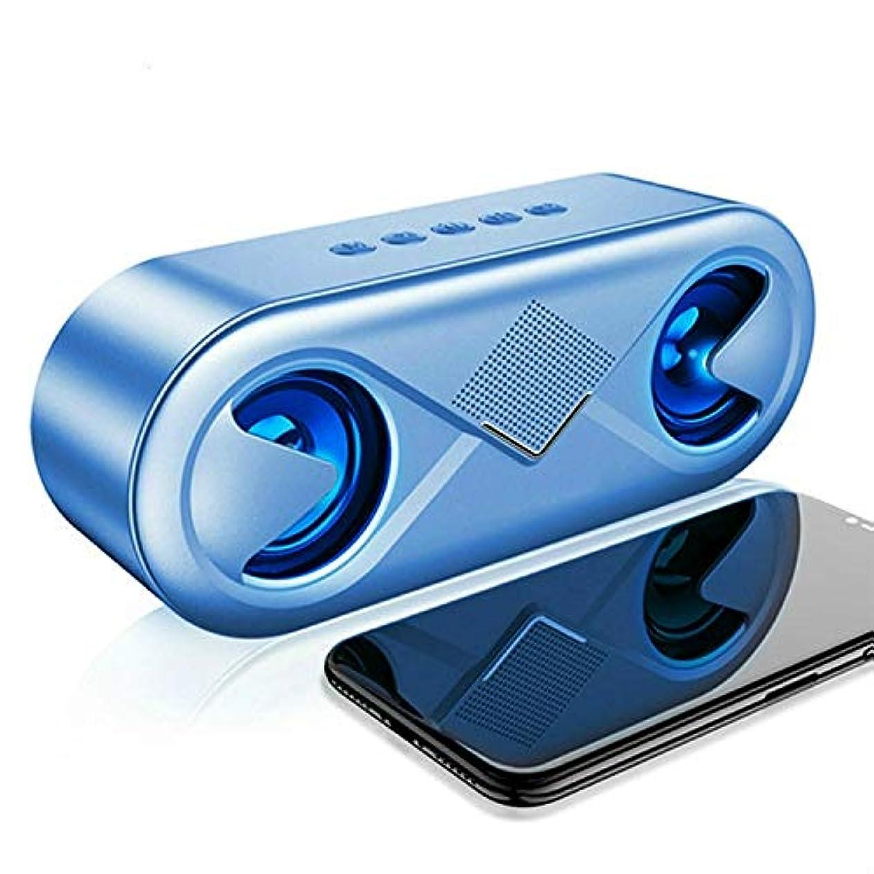 ギャンブルくるくるどちらもEryanone サポートTFカードAUX用のUSBフラッシュガンLED(BLACK)とハンズフリー新しい、S6 10WポータブルのBluetooth 5.0ワイヤレス立体音響?バッソハイファイスピーカー (色 : BLUE)