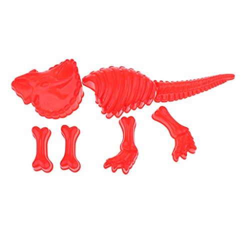 F Fityle 7 Piezas Niños Educativos Dinosaurio Esqueleto Molde Niños Playa Arena Juguete Conjunto
