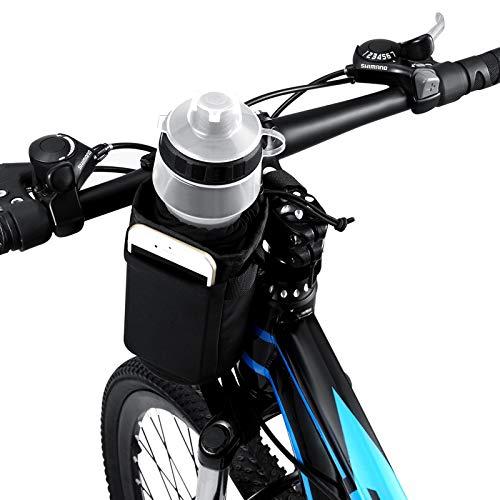 VLTAWA Bike Water Bottle Holder, Bike Cup Holder, Water Bottle Holder for Bike (No Screws, Insulated, Handlebar, 32oz 1L)