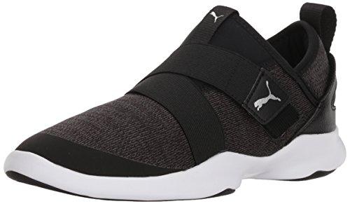 PUMA Women's Dare AC Sneaker, Black Silver, 6.5 M US