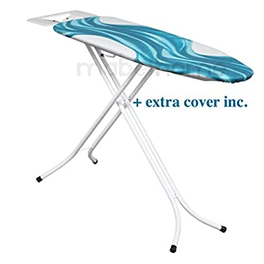 Mabel Home Adjustable Height, Deluxe, 4-leg, ironing Board, + Extra Cover