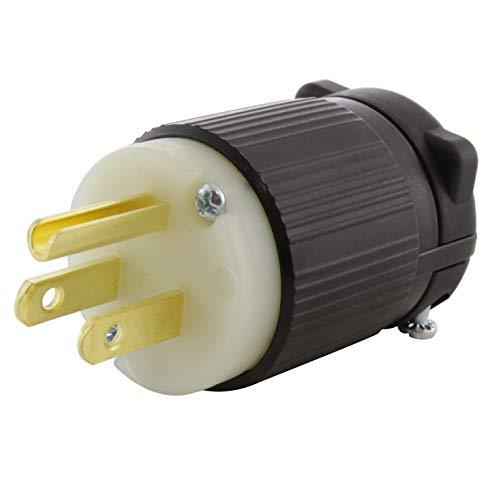 AC WORKS [AS515P] NEMA 5-15P 15A 125V Straight-blade Plug with UL, C-UL Approval