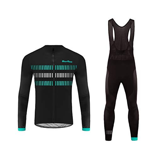Uglyfrog Veste Cycliste Homme Noir et Maillot Cyclisme Manches Longues Ultra-léger et Respirant Cycling Jersey Z04
