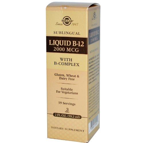 Solgar Sublingual Liquid B12 2000 ?g con B-Complex - 59 ml