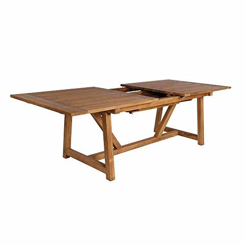 milanari Chambord Table de Jardin Extensible en Teck