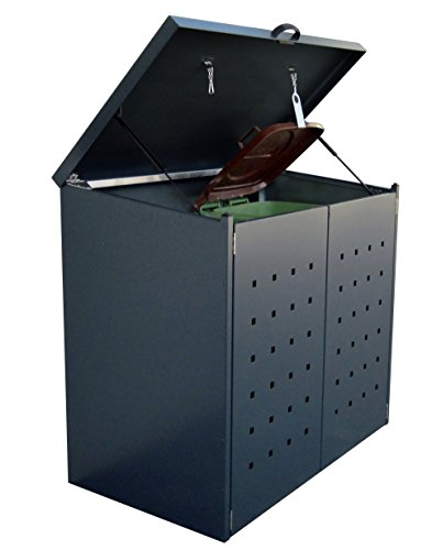 Mülltonnenbox 2 x 120 Liter (Anthrazit (RAL7016))