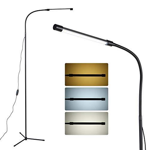 Lixada Dimbare USB-vloerlampen-leds vloerlamp 3 kleurtemperaturen 10-traps helderheid schakelaarbesturing met hoge lumen voor het lezen van de woonkamer en slaapkamer