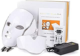 7 Kleuren Led Gezichtsmasker Led Foton Therapie Machine Lichttherapie Acne Nek Schoonheid Led Masker (with original box,EU...