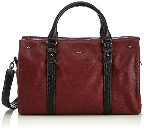 Tamaris Damen LORNA Bowling Bag Bowlingtaschen, Rot (bordeaux 549), 39x25x16 cm