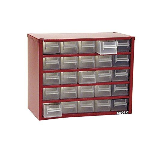 Cogex 72443 Casier métal 25 tiroirs, Gris