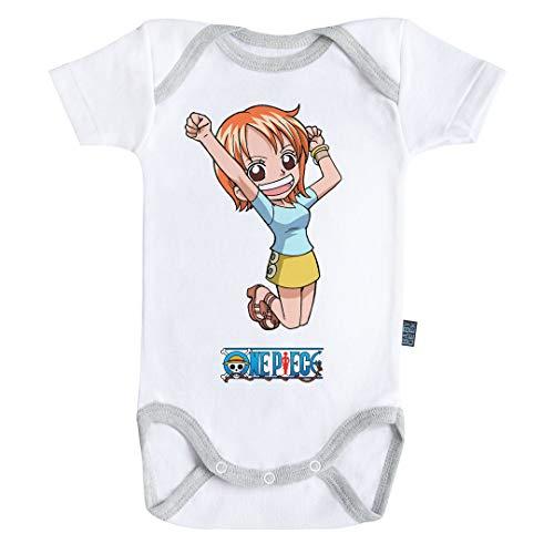Baby Geek Nami One Piece - Body de manga corta para bebé con licencia oficial blanco 3-6 Meses