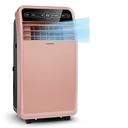 Klarstein Metrobreeze New York Smart - Mobile Air Conditioner, 3-in-1: Air Conditioner/Dehumidifier/Fan, WiFi: App Control, EEC A, 360 m³ / h, Rooms Up to 59 m², 12000 BTU / 3.5 kW, Rose Gold