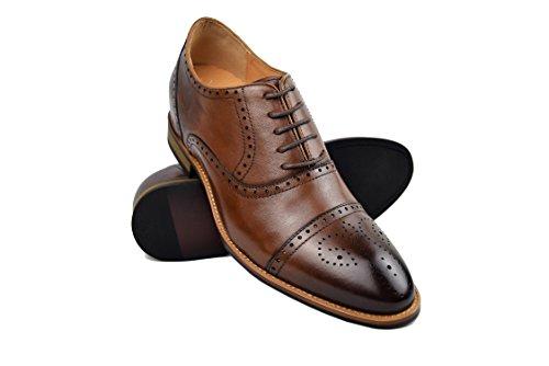 ZERIMAR Zapatos con Alzas Interiores para Hombres Aumento 7 cm | Zapatos...