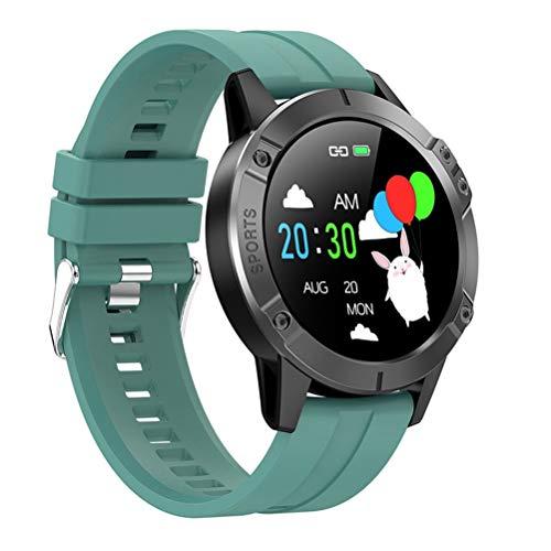 RongWang Reloj Inteligente Deportivo para Hombres y Mujeres, Monitor de frecuencia cardíaca y presión Arterial, podómetro, Actividad Impermeable, Reloj Inteligente con Banda para Ejercicios