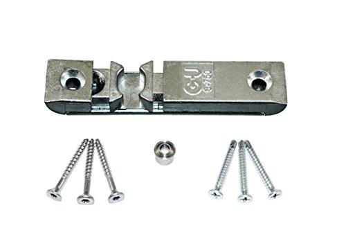 GU Türschnäpper Balkontürschnäpper 8-750, K-17068-00-0-1 mit Rollzapfen & SN Montagematerial