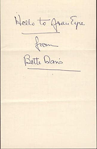 Japan's largest assortment Spring new work one after another Bette Davis - Signature Inscribed