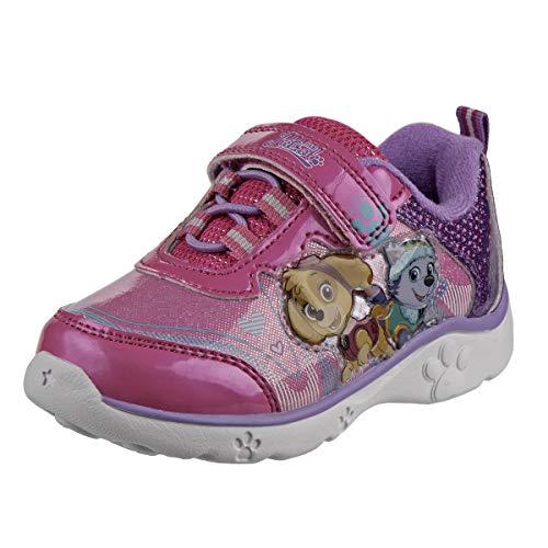 Nickelodeon Paw Patrol Girls Light Up Lightweight Sneakers (Toddler/Little Kid), Size 9 Toddler, Purple/Pink