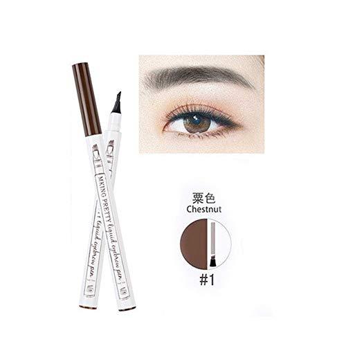 NLJYSH Crayon à Sourcils Liquide de Maquillage Tache imperméable Colorant Tatouage sourcil Brun Stylo Eye-Liner à Long sourcil Durable (Color : 01 Chestnut)