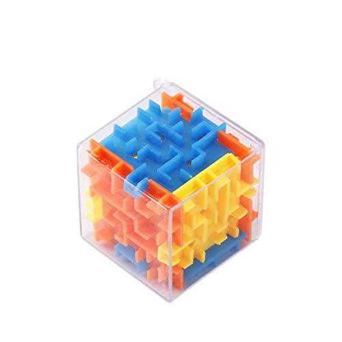 YzDnF Juego de Rompecabezas Maze Racers 5 Paquetes de Juguetes de educación temprana para niños Transparent 3D Maze Marbles Adulto Intelectual Descompresión Cubo Juguetes para niños y niñas.