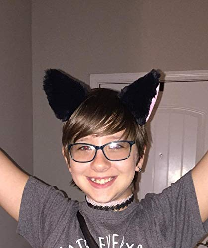 Cat Fox Long Fur Ears Hair Clip Headwear Cosplay Halloween Costume