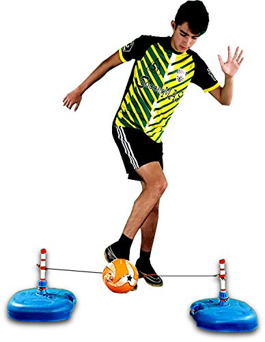 SoccerMAS REACT3ON - The Fastest Soccer Trainer in The World - All Ages - ONE2TRAIN Training Equipment - Soccer Ball Reaction Skills for Indoor - Agility 3 in 1 SOCCERFLIX Free Bonus