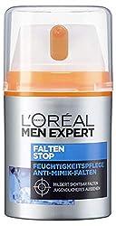 L'Oréal Men Expert Falten Stop Feuchtigkeitspflege, Gesichtscreme für Männer mit hochdosierter Anti-Aging-Wirkung, sofortiger Anti-Augenrige- und Anti-Falten-Effekt (1 x 50ml)