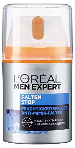 L'Oréal Men Expert Gesichtspflege gegen Falten, Anti-Aging Feuchtigkeitscreme für Männer, Sofortiger Anti-Augenringe- und Anti-Falten-Effekt, Falten Stop, 1 x 50ml