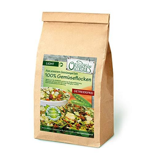 Original-Leckerlies: 100% Gemüse-Flocken, 1 kg getreidefreie Gemüseflocken für Hunde, Hundeflocken als Ergänzungsfutter beim Barfen, Naturprodukt ohne künstliche Zusätze, Hundefutter Barf-Zusatz