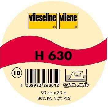 Javi 1 m Non tissé Volume H 630 aufbügeln Blanc Freudenberg
