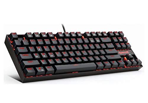 Teclado Gamer Redragon Kumara Red Mecânico ABNT2 Switch Outemu Brown K552-2 PT-Brown