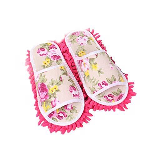 TrifyCore Deslizadores de Las Mujeres mopa de Microfibra Calcetines Zapatillas hisopo de frotis Zapatos Herramientas de Limpieza para la Venta, ayudantes prácticos para el hogar