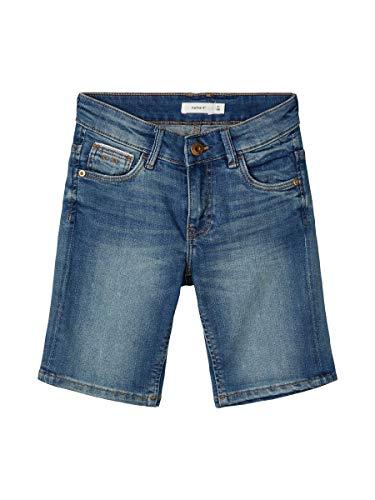 NAME IT Jungen NKMSOFUS DNMTISTIC 2304 LSHORTS Bet NOOS Shorts, Medium Blue Denim, 116