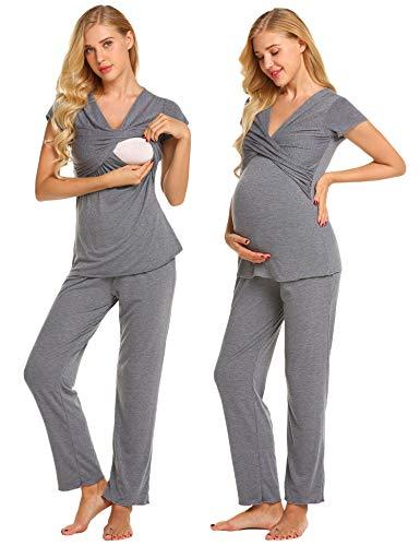 luxilooks Women's Maternity Nursing Pajama Soft...