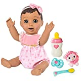 Luvabella Brunette Hair Interactive Baby Doll with Expressions & Movement, Ages 4 & Up
