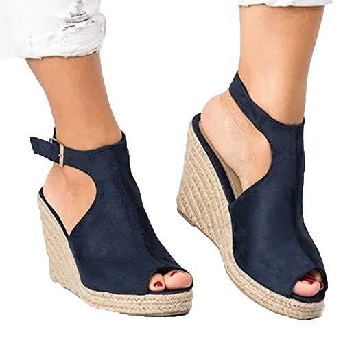 Vrouwen wig sandalen Open teen modieuze zomer schoenen met hoge hakken holle sexy sandalen maat 35-43