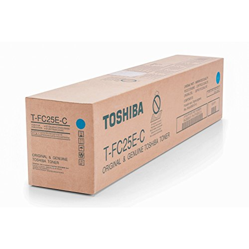 Original Toshiba 6AJ00000072 / T-FC 25 EC, für E-Studio 2540 C SE Premium Drucker-Kartusche, Cyan, 26800 Seiten