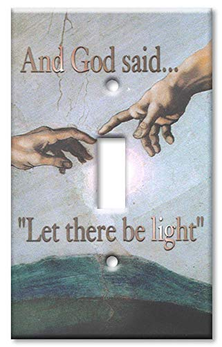 Single Toggle Switch Plate - Michelangelo: God (40-A)